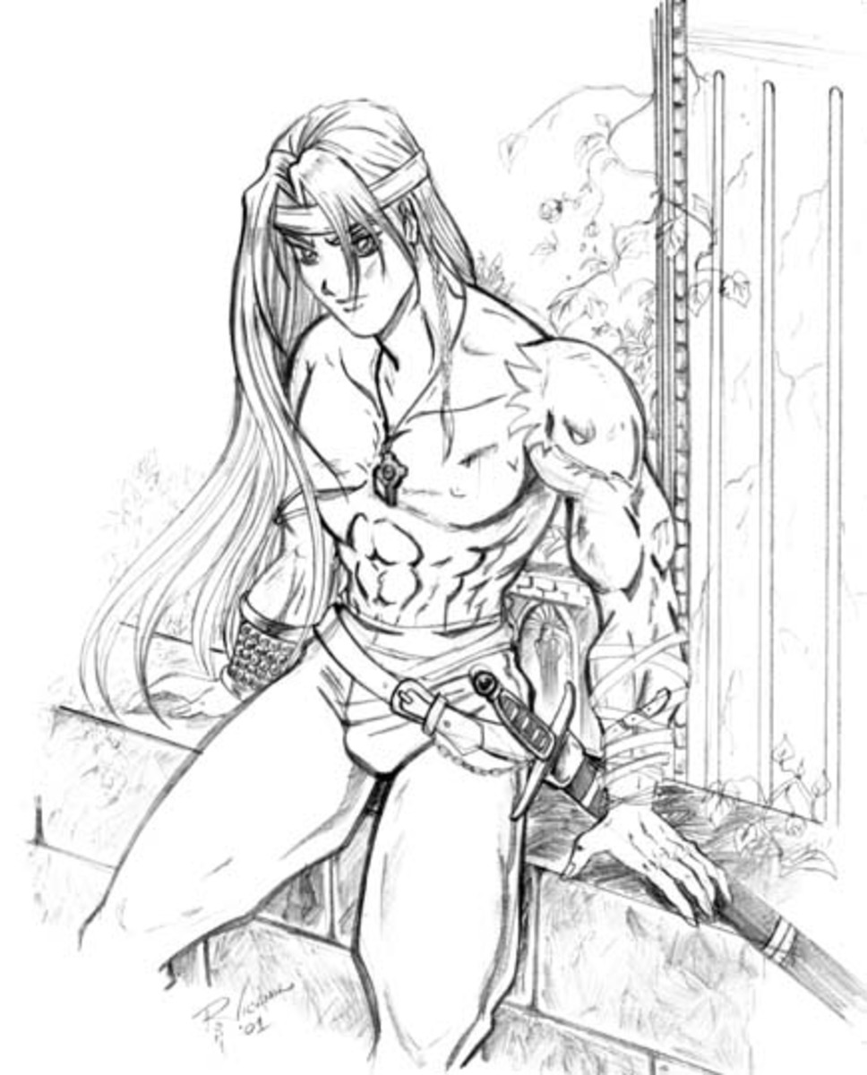 One for the younger girls - a young Cuchulainn with his sword