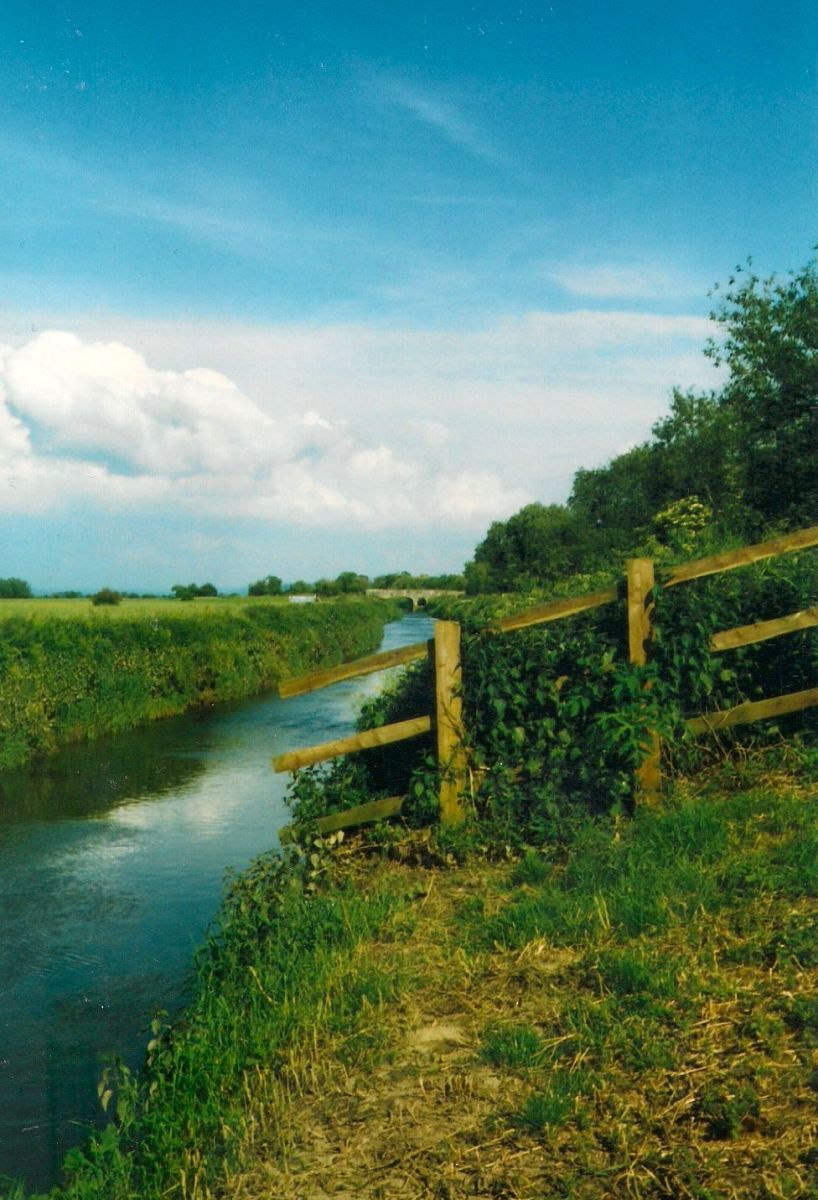 The River Brue at the end of the bottom paddock at 'The Lakes'