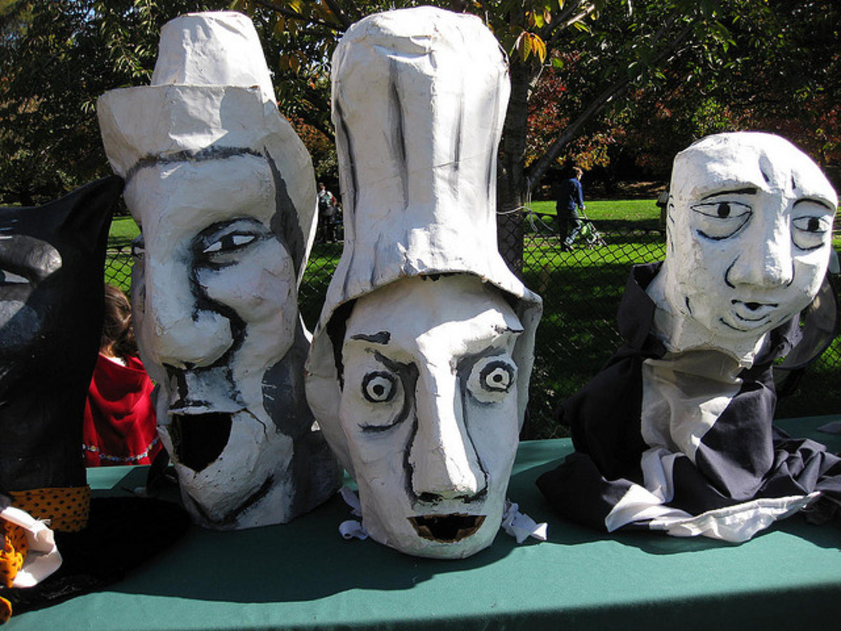 A huge variety of faces can be made with the versatile paper mache technique.