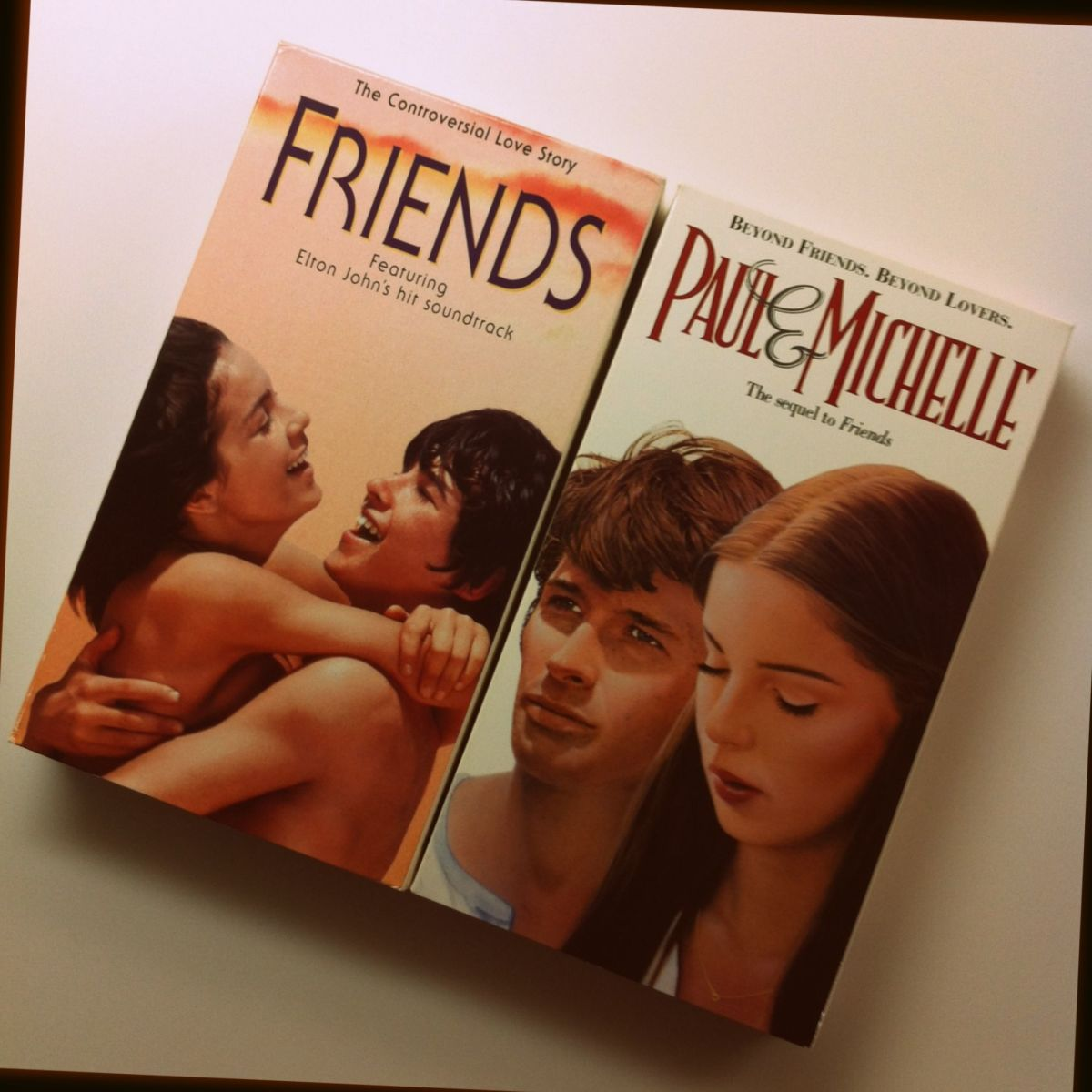 My VHS copies of 'Friends' and 'Paul and Michelle'