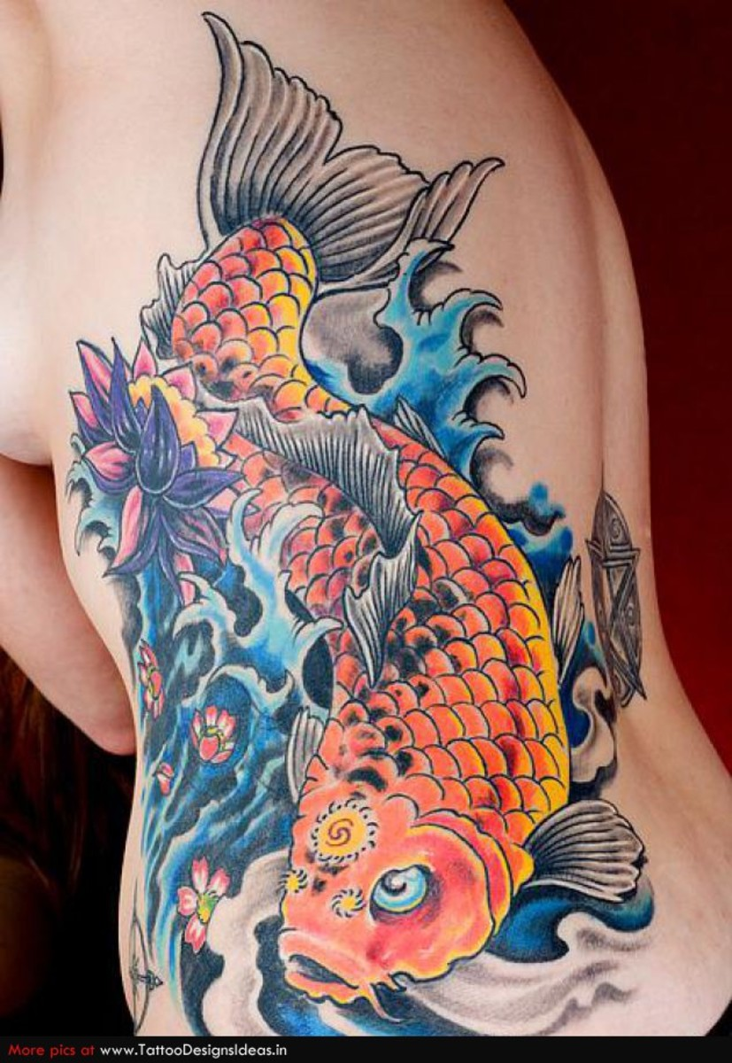 Koi fish tattoo meaning hubpages for Koi meaning japanese