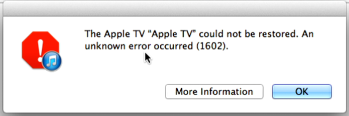 How To Fix Apple TV Itune Error 1600, 1601 ,1602, 1603, 1604 for Seasonpass