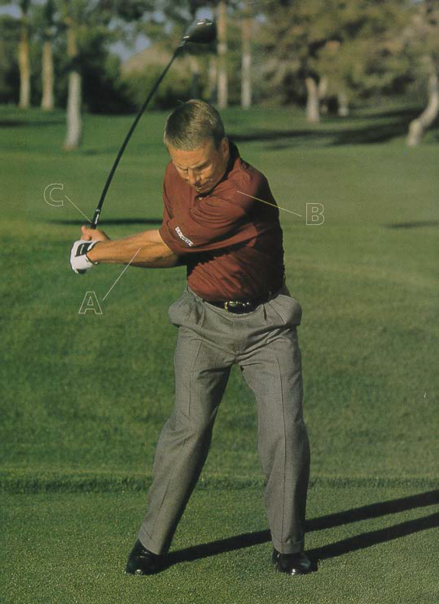 Golf Swing Power Tips-How to improve golf swing keeping lower body still in backswing
