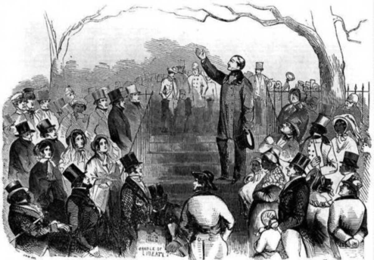 An illustration of an outdoor rally for the Union