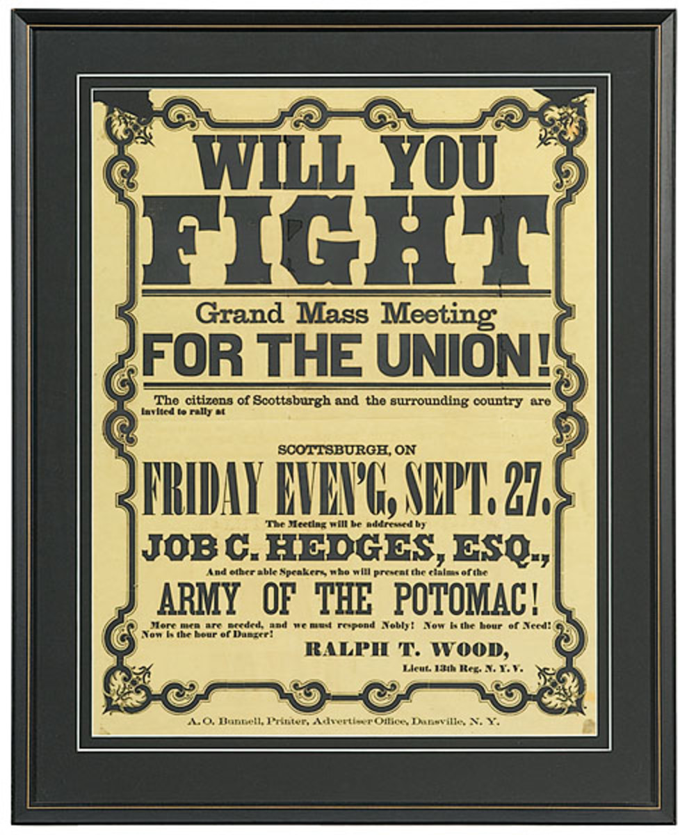A poster advertising a rally for the Union