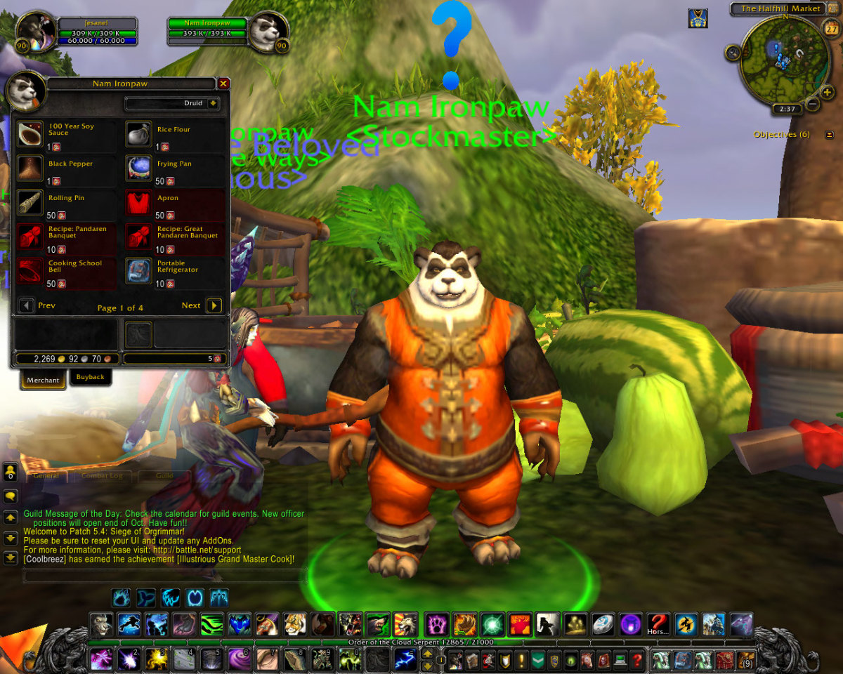 Nam Ironpaw trades players exclusive items for Ironpaw tokens earned from dailies.