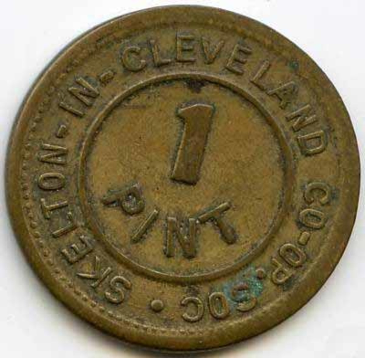Skelton Co-operative Society milk token