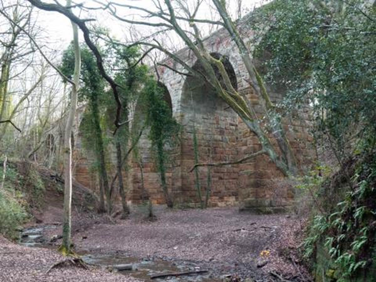 Waterfall Viaduct eased the passage of Cleveland ironstone in the Guisborough district to Teesside steel works. Now a listed structure (see Travel North 39)