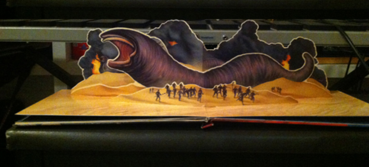The center panorama from my Dune pop-up book.