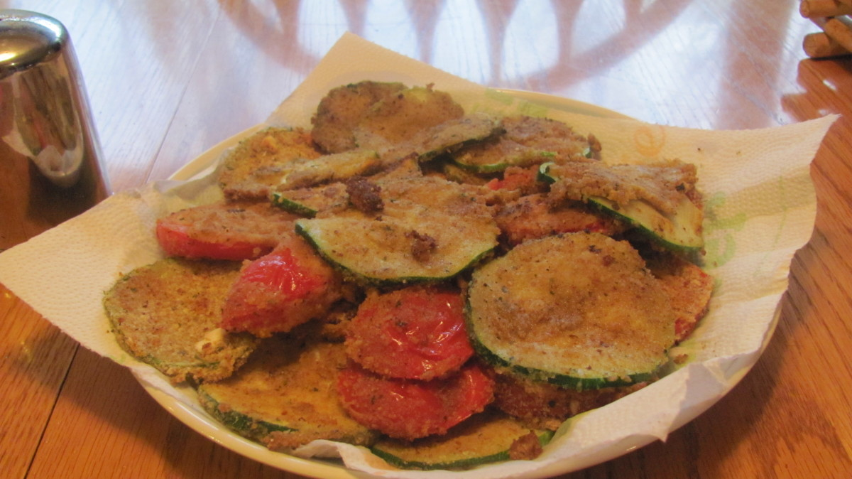 Baked-Breaded- Zucchini Chips
