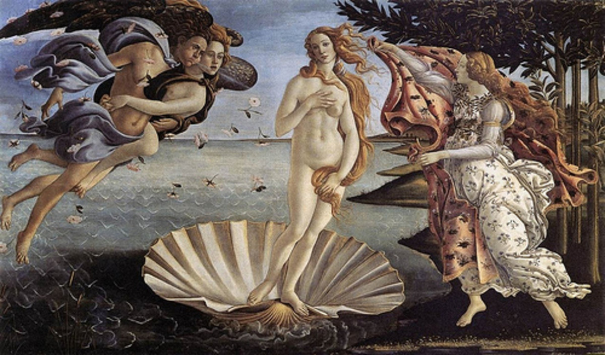 Botticelli's Venus also had an outlandishly proportioned body... an elongated neck and torso with freakishly long feet.