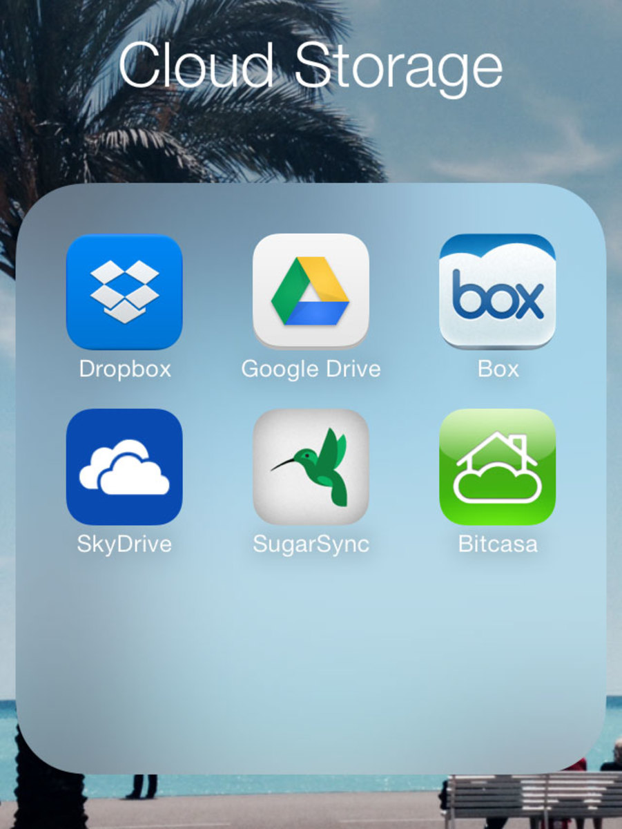 Use cloud storage apps for iPhone or iPad to store large files remotely.