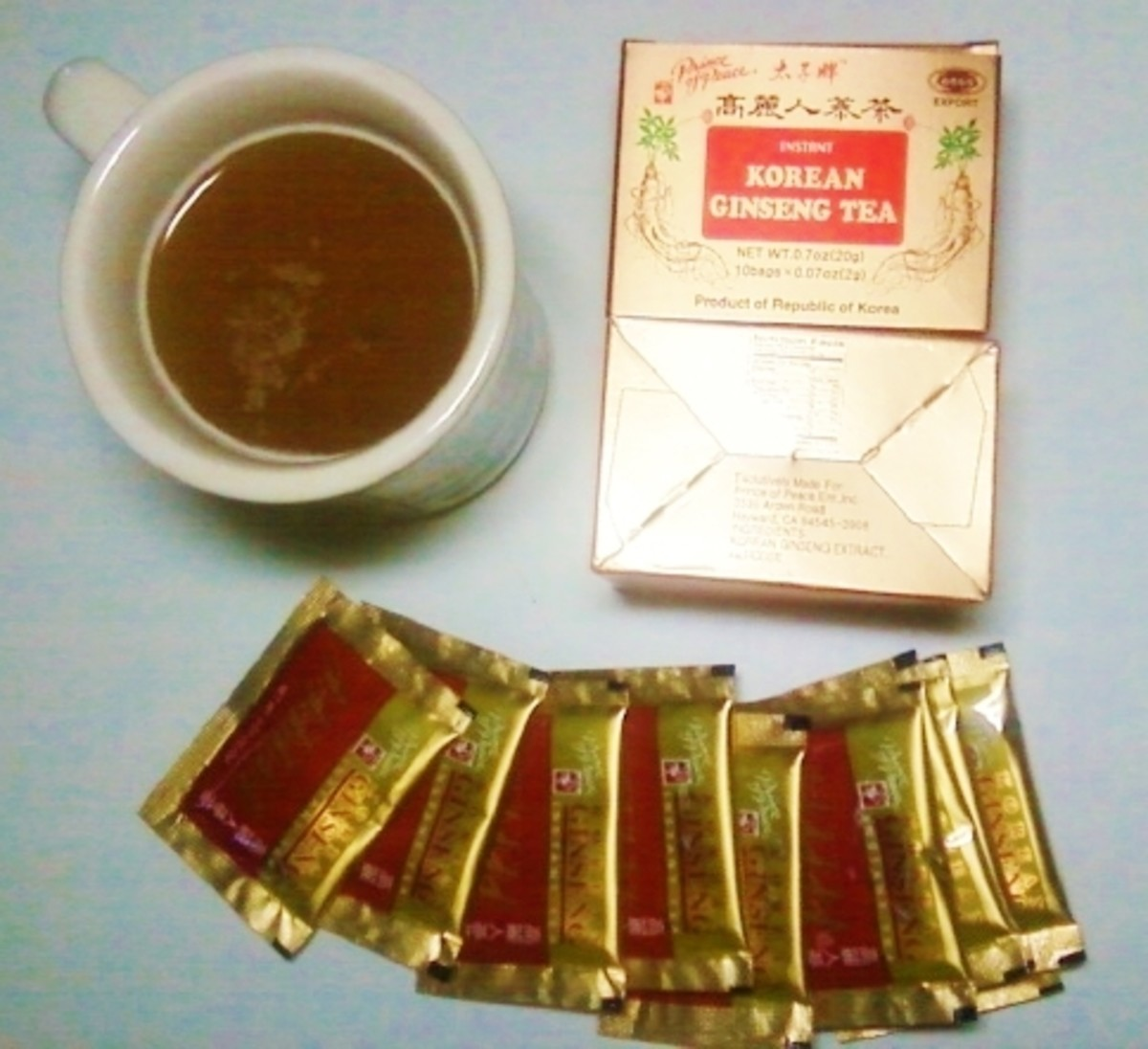 This instant ginseng tea is an authentic product of Korea.