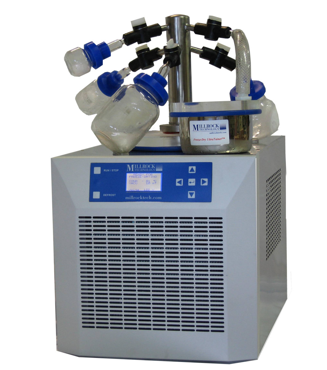 This particular model is known as a bench-top manifold freeze drier.