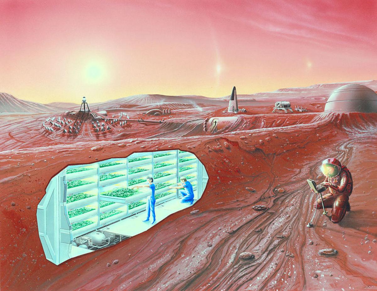 A Future Mars Colony