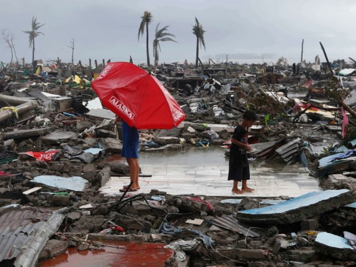 Nothing remains of what once was a booming city after Haiyan struck Tacloban in the Philippines...
