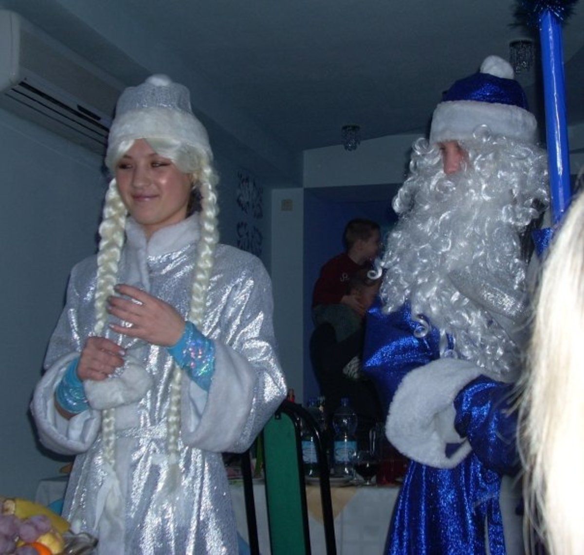 Father Frost and Snow Maiden at Volzhanka, Cheboksary, Russia