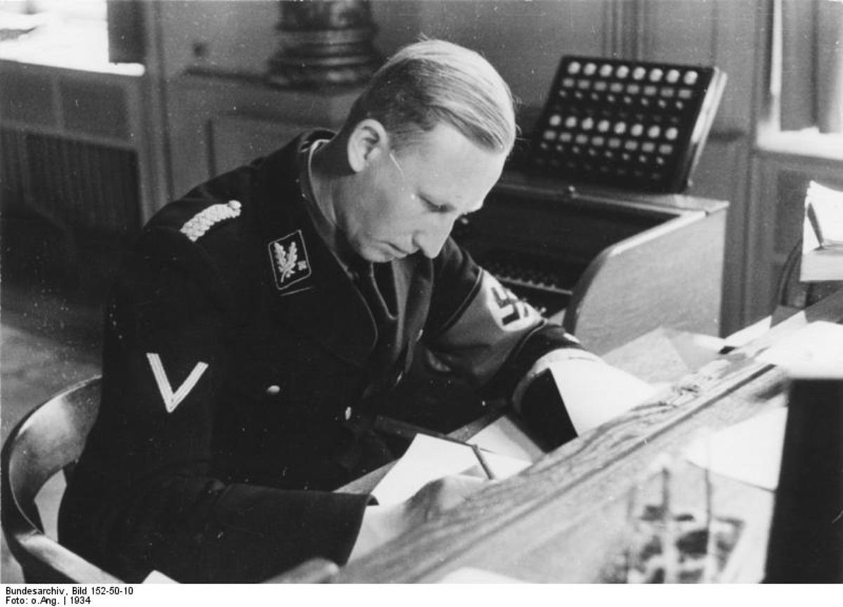 SS Obergruppenfuehrer (General) Reinhard Heydrich, 'the Hangman' author of the final Solution