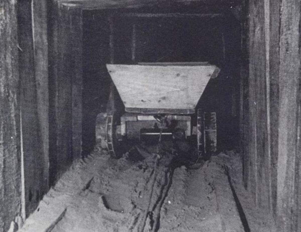Dirt cart inside Harry