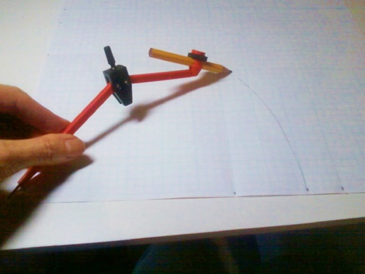 Drawing the curve for the Love Ring. This drawn line is the seam line, not the cutting line.