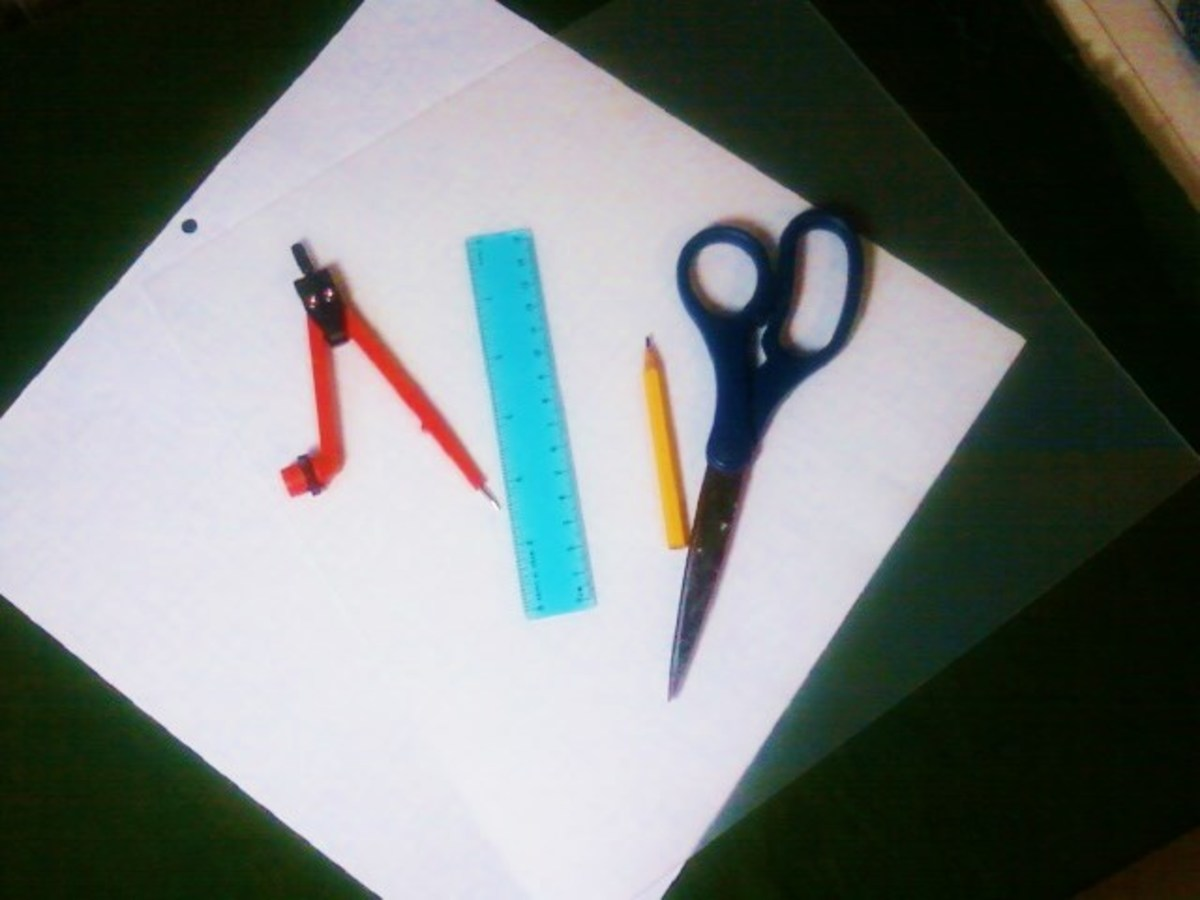 Here are some of the tools and materials you might use to construct quilt templates.