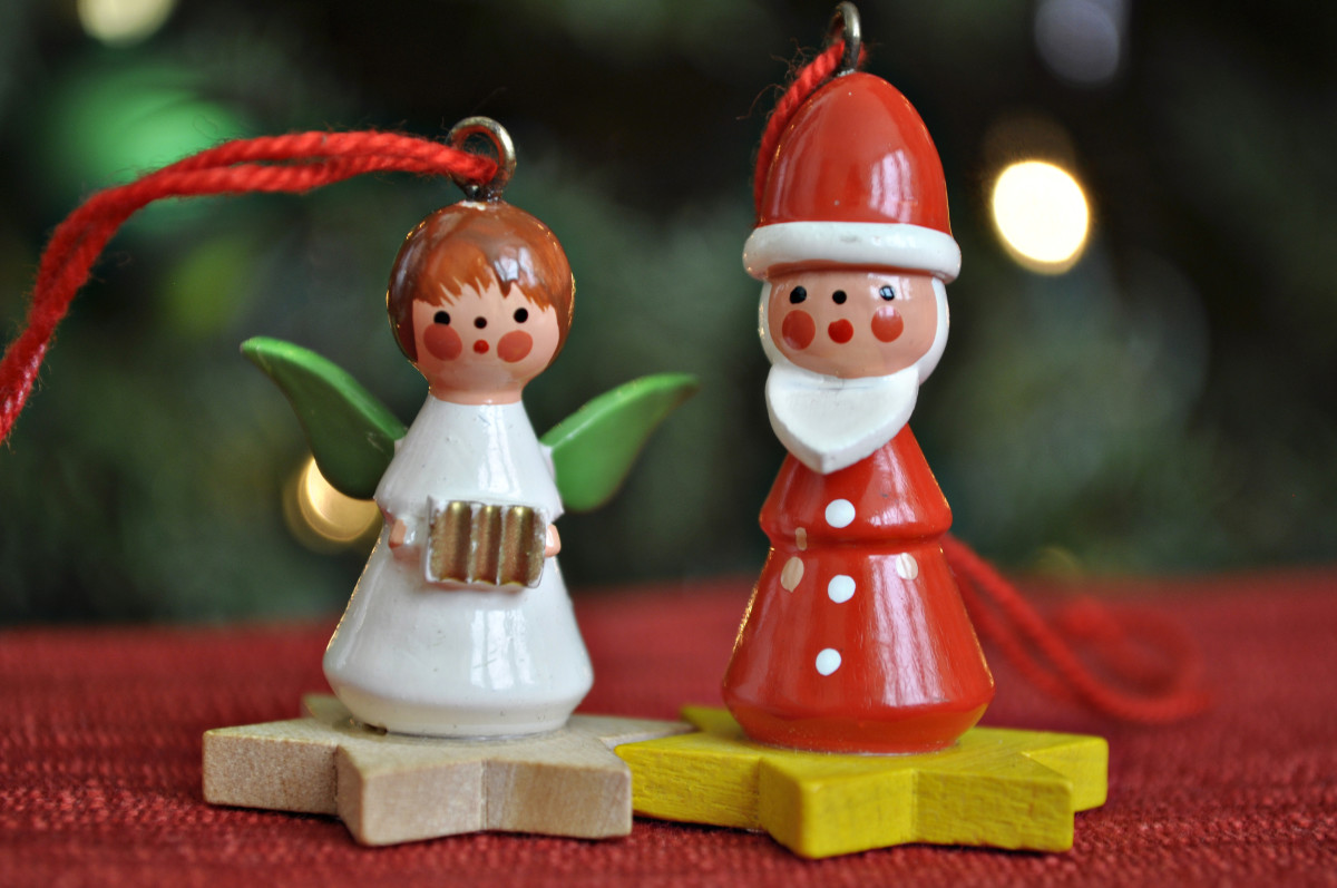 Famous wooden Christmas tree ornaments made in Germany.