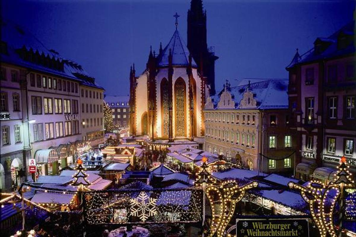 Wurzburg, Germany Christkindlmarkt.