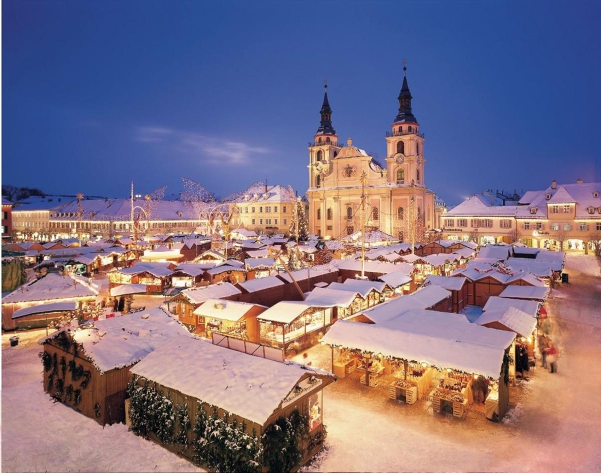 A snowy German Night.