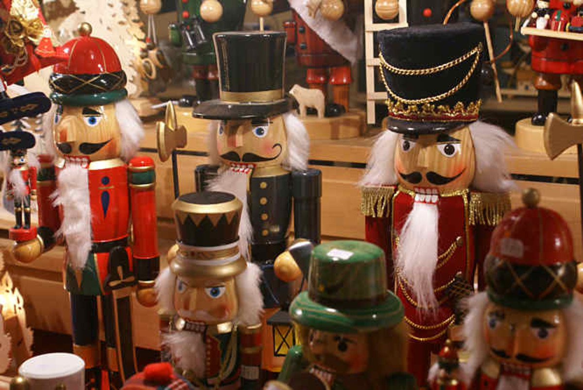 German Nutcrackers, another German Christmas tradition.