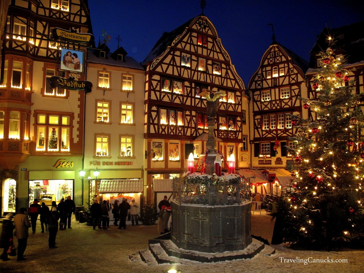 Bernkastle, Germany and Christmas tree.