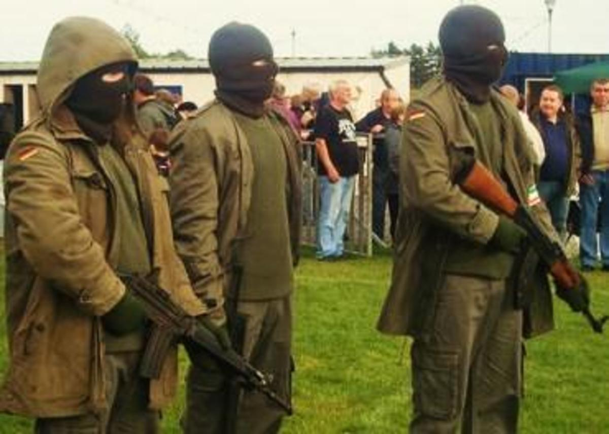 A re-enactment of the IRA service unit