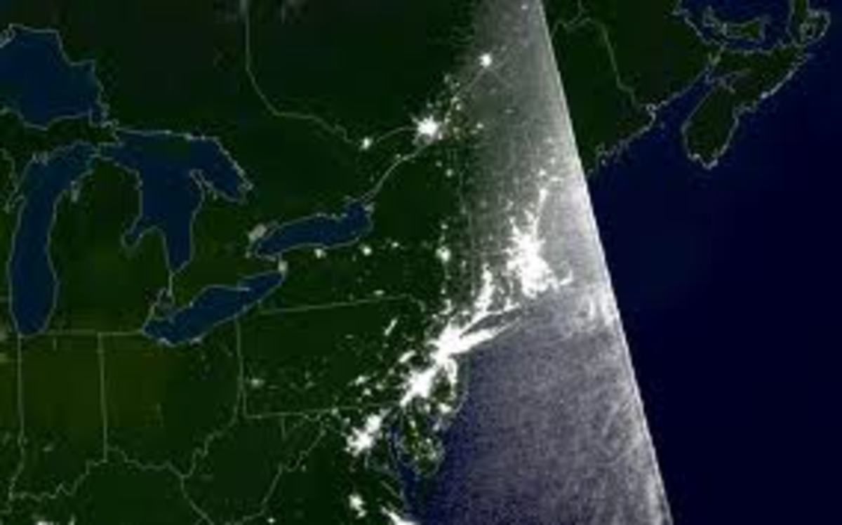 A map of the US Black out