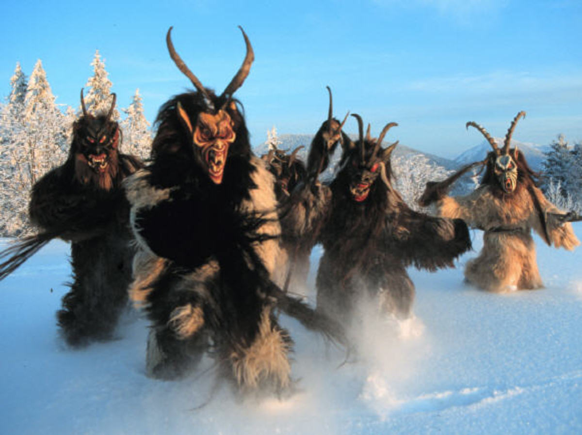 The Berchten monsters are similar in appearance to Krampus.