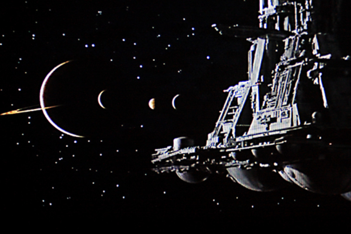 The Nostromo approaches a planetary system, the source of an alien transmission