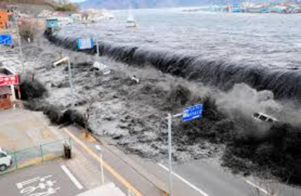 The tsunami from the earthquake triggered by explosives in the Mariana Trench killed over 15,000 people in very short period of time.
