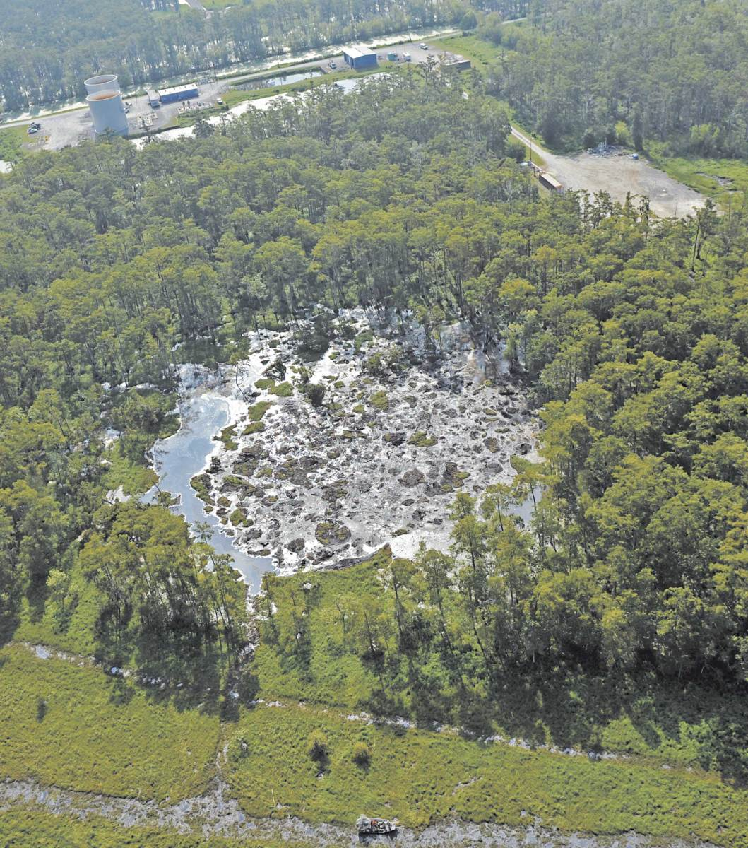 As the sinkhole keeps growing evacuations have begun fearing radioactive pollution and explosions.