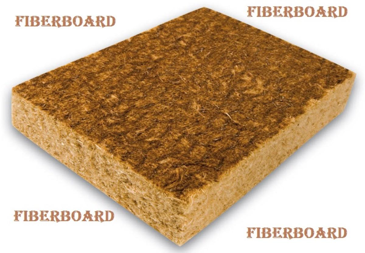 Fiberboard shown