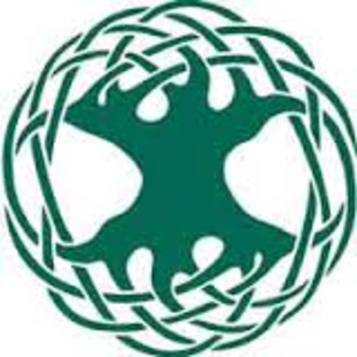 Used as a symbol to describe the forest (tree) of life that is our planet Earth it also shows the Hollow Earth concept as well (As Above, So Below).