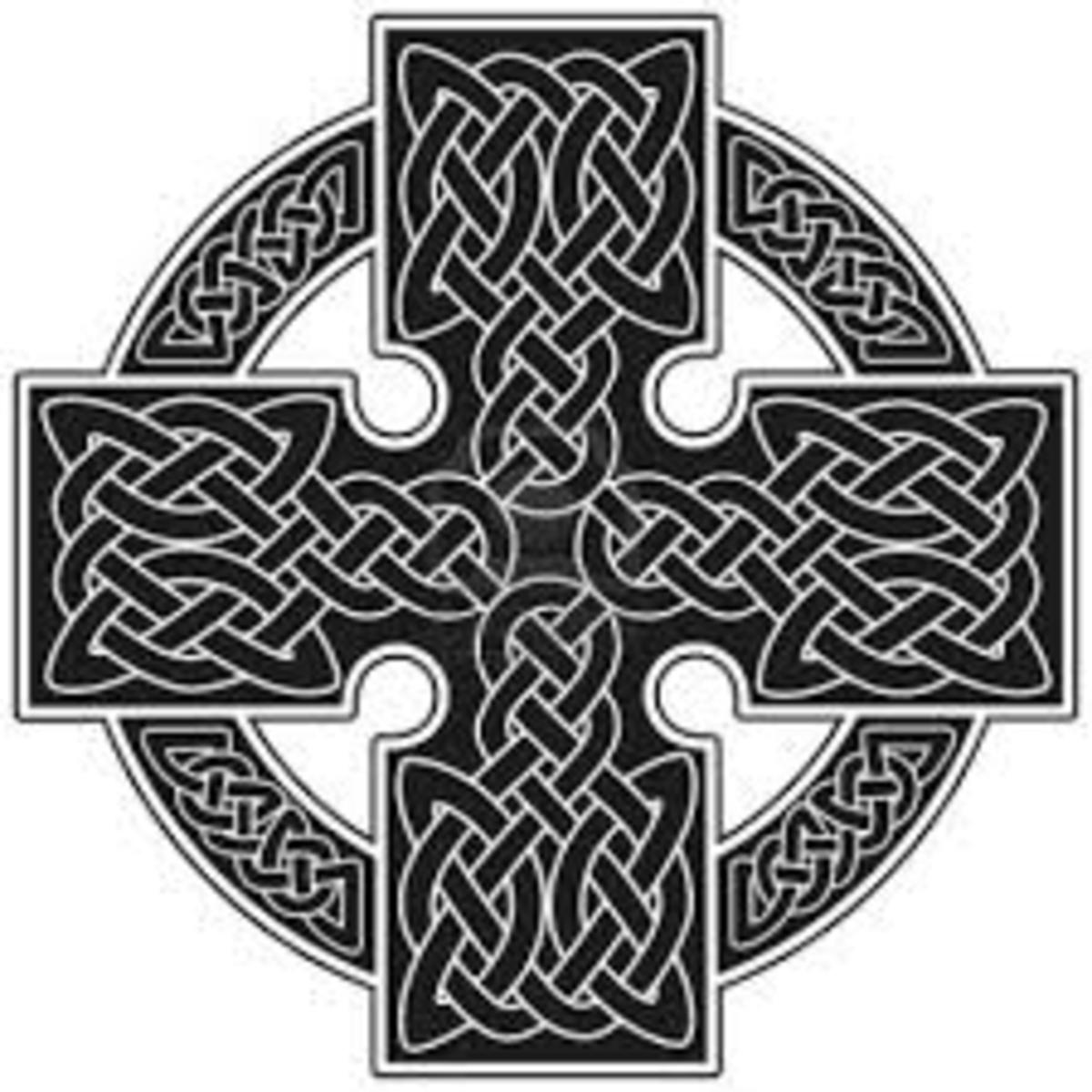 The Celtic Cross depicts the four directions surrounded by a hollow globe, coincidence?