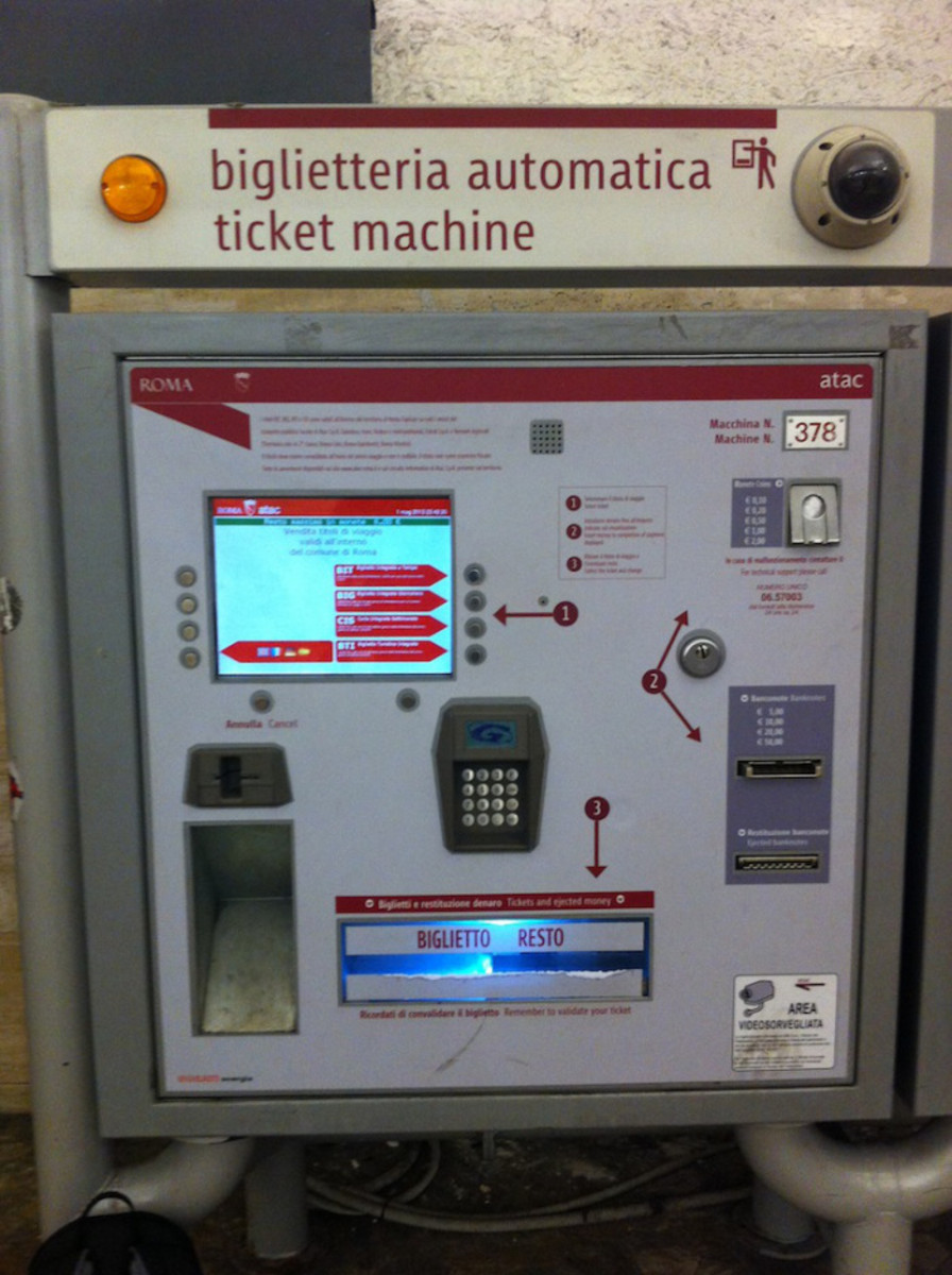 Rome Public Transport Ticket Machine