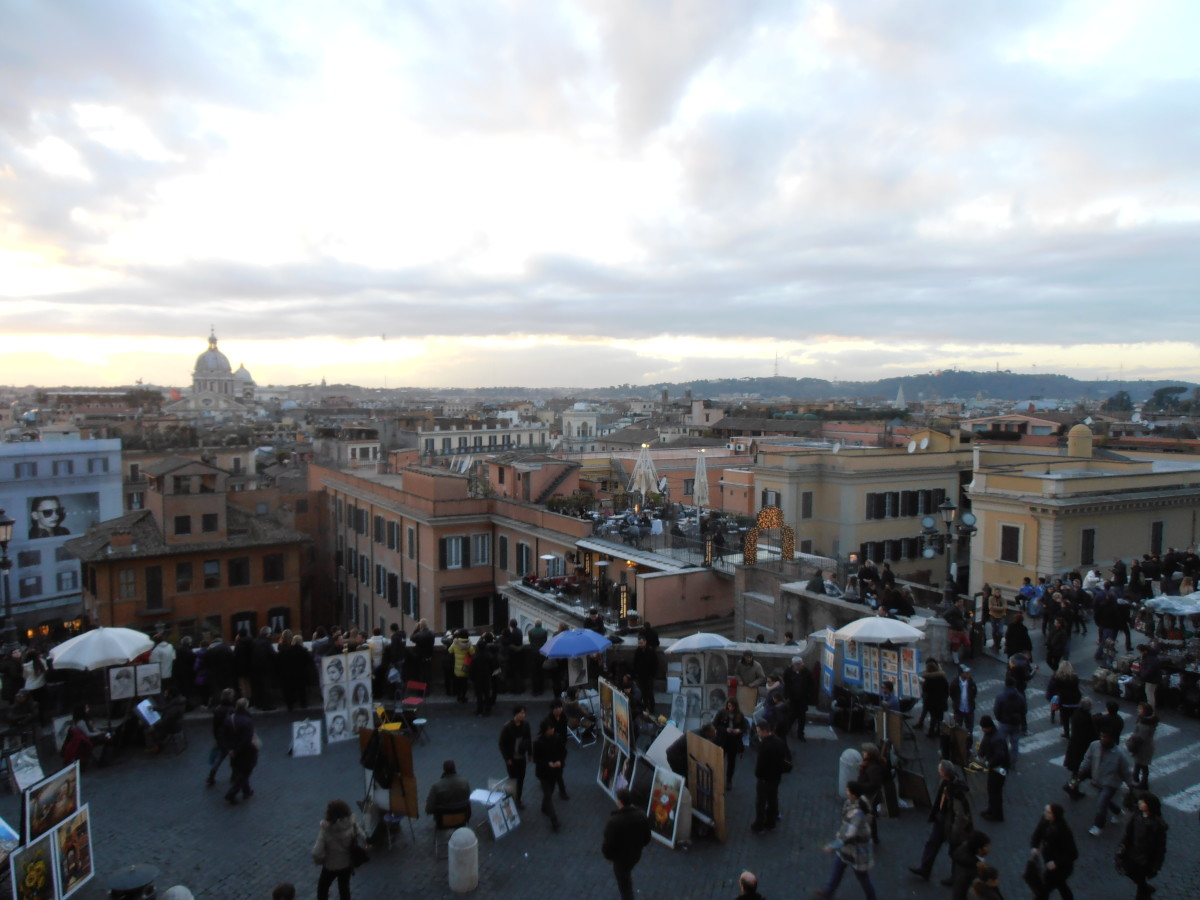 Rome from Spanish Steps