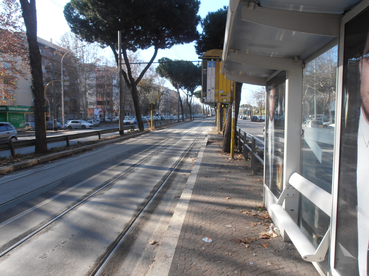 Rome Tram Stop