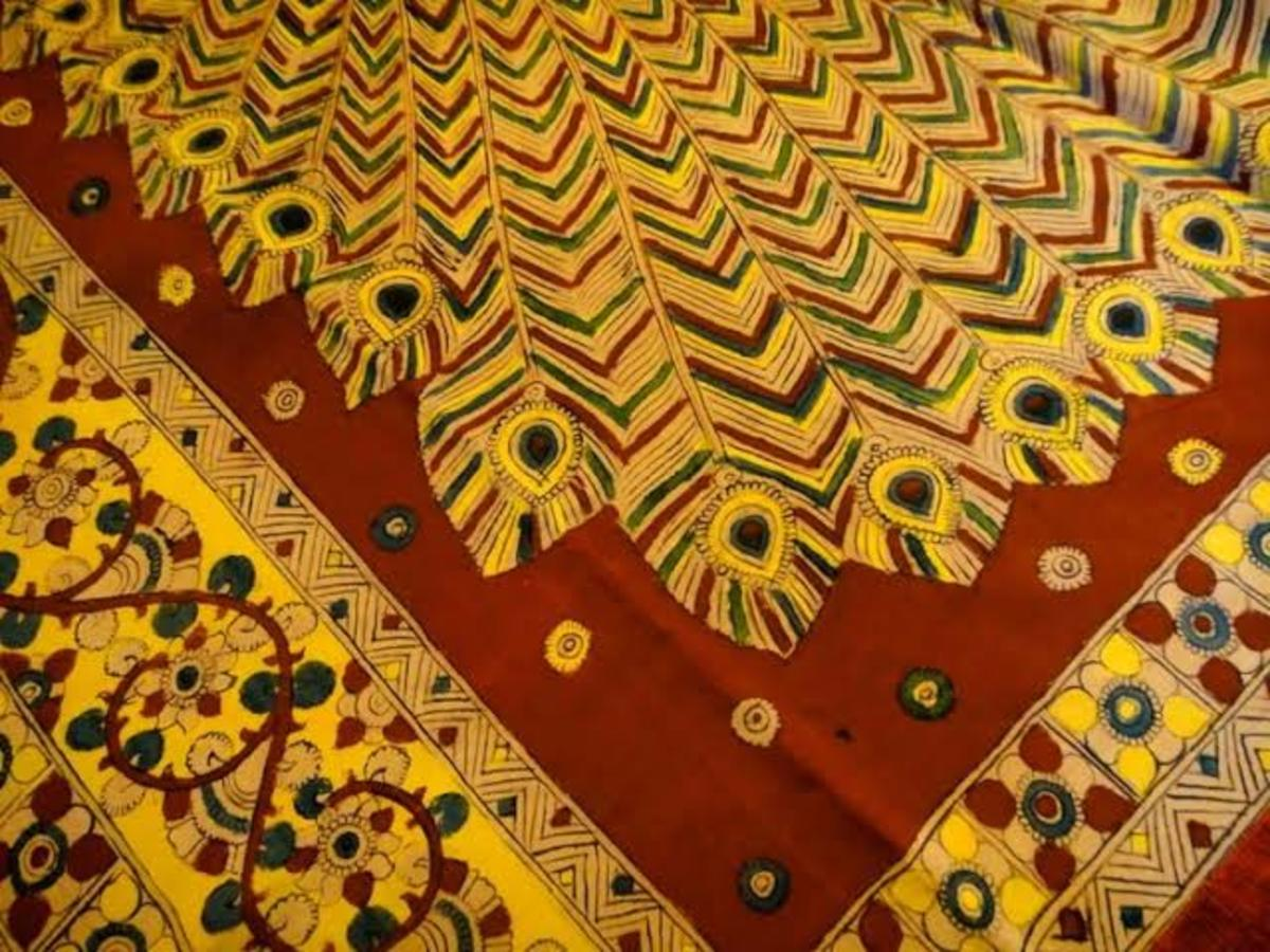 The Kalamkari Paintings on a Saree