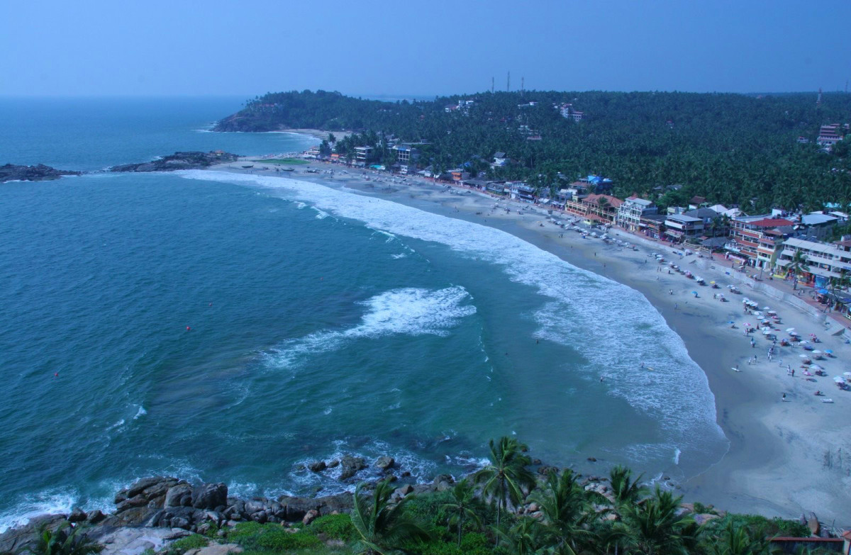 The Kovalam Beach Seen From Atop The Lighthouse.