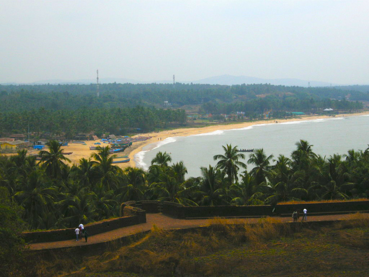 The Bekal Fort And Bekal Beach.