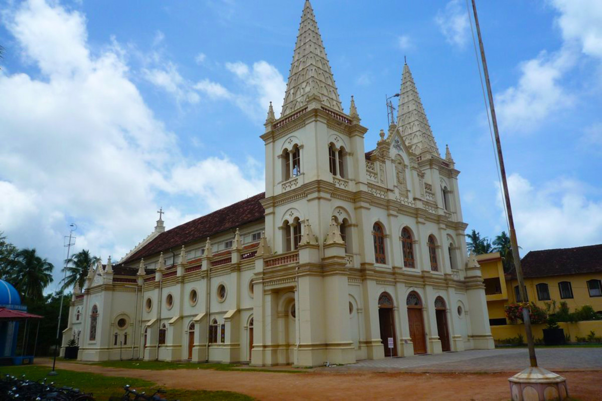 The Santa Cruz Basilica At Fort Kochi.