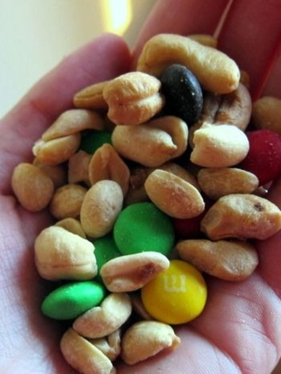 Mountain climbing snack: trail mix