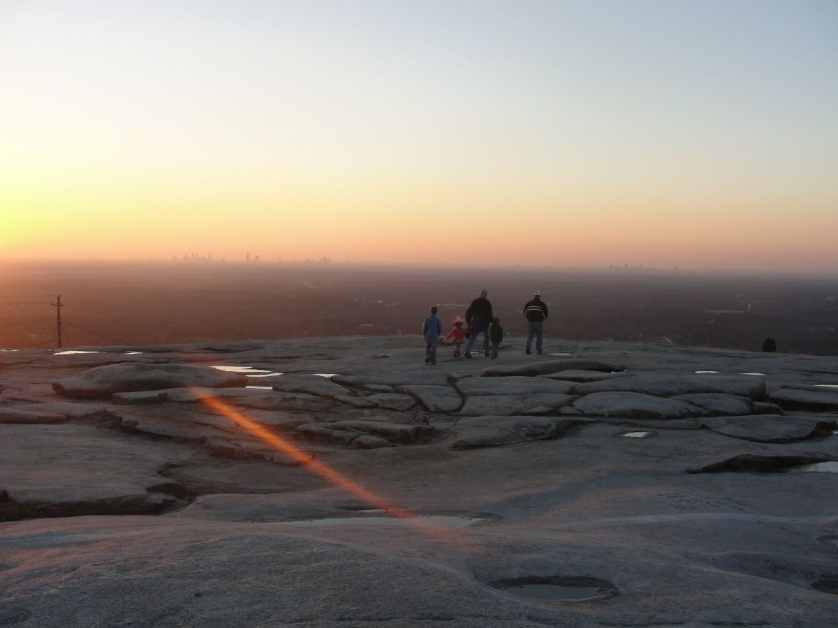 The first mountain my children climbed by themselves was Stone Mountain in Atalanta.