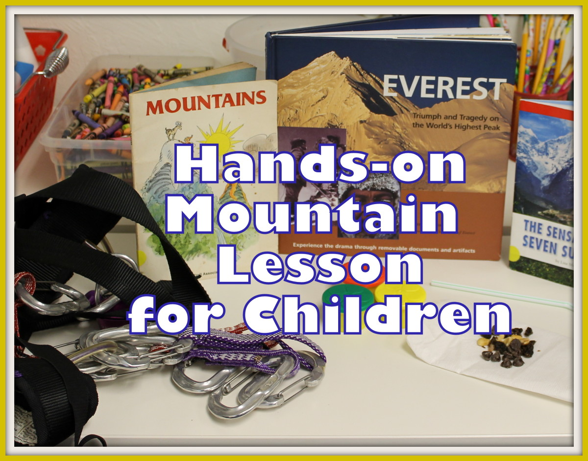 Hand-on Lesson on Mountains and Mountain Climbing for Children