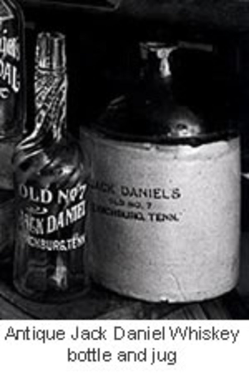 Antique bottle of Jack Daniels